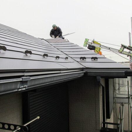 屋根横暖ルーフ施工