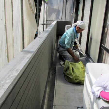 バルコニー外壁サイディング 張り工事 雨漏り改修工事