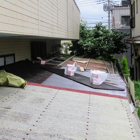 入間市 屋根張替工事 施工中写真