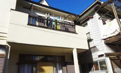 狭山市水野K様邸 コロニアル屋根塗装工事、ベランダ床・外壁の緊急補修工事