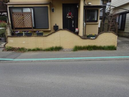 飯能市中山 I様邸 ブロック塀改修工事